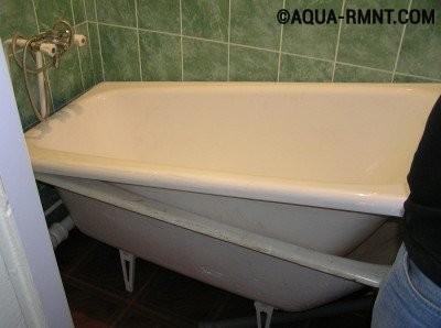 """Как обновить старую чугунную ванну: способ """"ванна в ванну"""""""
