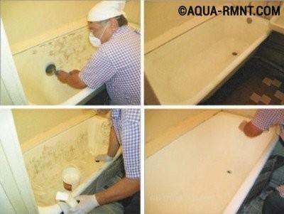 Восстановление ванны жидким акрилом: этапы процесса