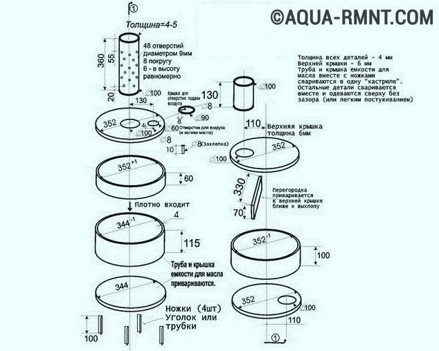 Печка на отработке с водяным контуКак Реставрация