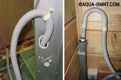Как вывести сливной шланг от стиральной машины в отдельную канализацию из шин?