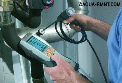 Специальное оборудования для тестирования газового котла