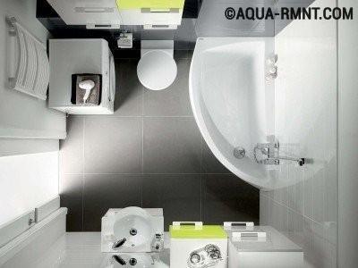 Угловая ванна для небольших санузлов