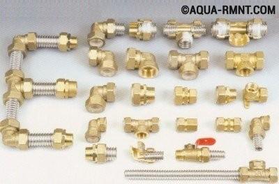 Пресс фитинги для металлопластиковых труб: ассортимент