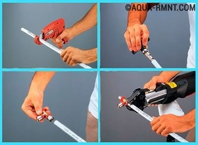 Пресс фитинги для металлопластиковых труб: правила монтажа