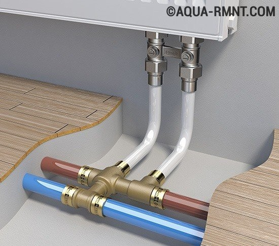 Монтаж отопления металлопластиковыми трубами своими руками 801