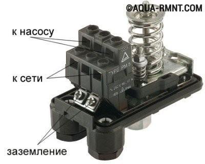 Контактные пары датчика давления воды