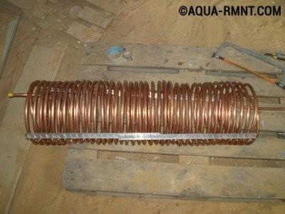 Змеевик для конденсатора теплового насоса вода-вода