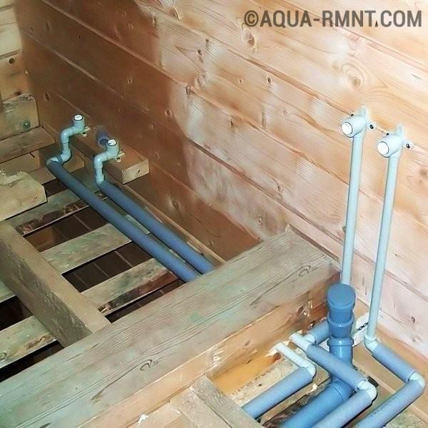 Как провести воду в дом в деревянный дом своими руками