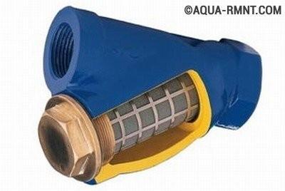 Сетчатый фильтр грубой очистки воды с косым отводом