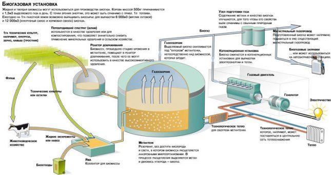 Процесс выработки биогаза