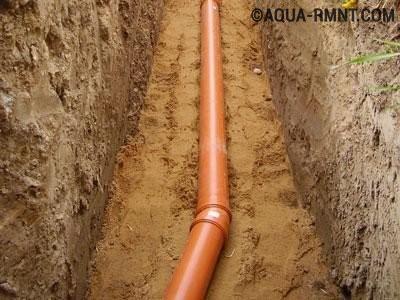 Укладка канализационной ветки до участка врезки