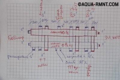 Проект-схема распределительного коллектора