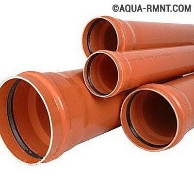 Подключение к центральной канализации: трубы для наружной системы