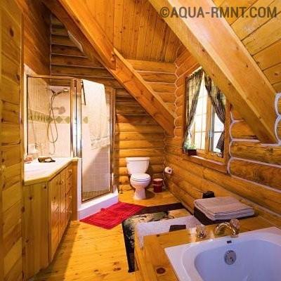 Особенности обустройства ванной комнаты в деревянном доме