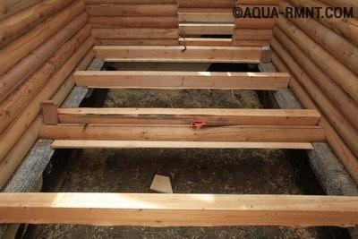 Перекрытия в ванной деревянного дома