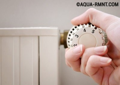 Термоголовка на радиаторе отопления