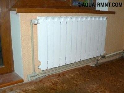 Радиаторы отопления и трубы для отопления в квартире
