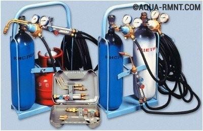 Набор оборудования и расходных материалов для газосварки
