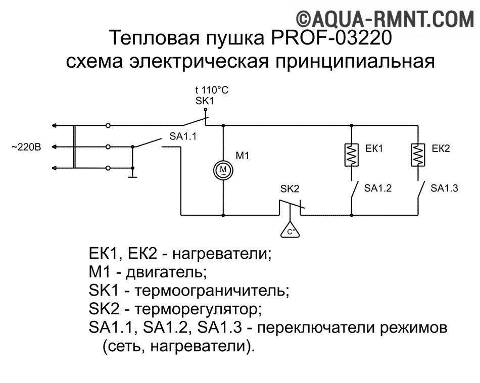 Электрическая схема тепловой