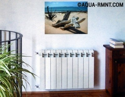 Биметаллический радиатор отопления в квартире