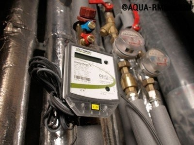 Работа общедомового прибора учета тепла