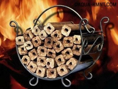 Теплоотдача древесных брикетов