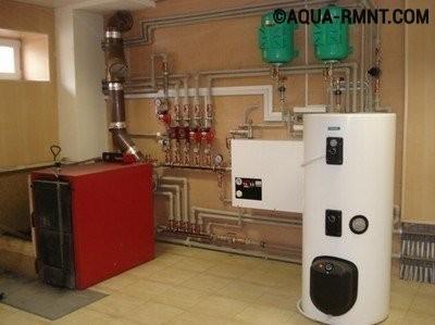 Система отопления на газе и твердом топливе