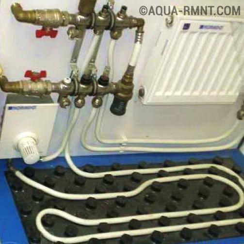 Совмещенное отопление водяные полы и радиаторы