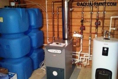 Резервуары для жидкого топлива в котельной