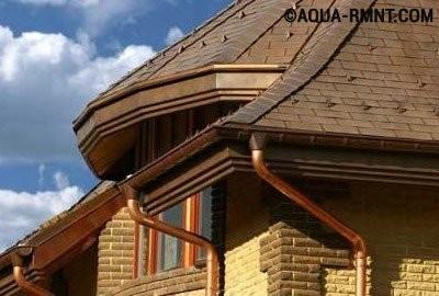 Установка водостока для крыши своими руками: водосток из меди