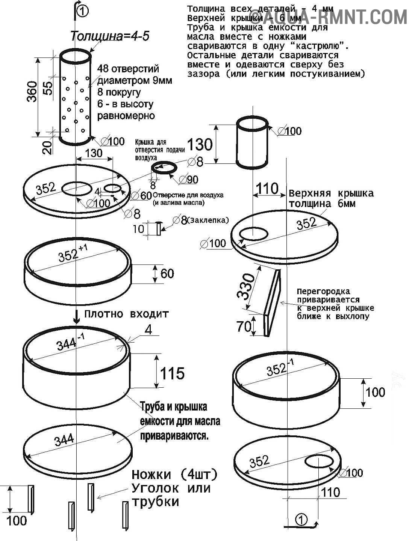 отоплению дома печкой с контуром схема
