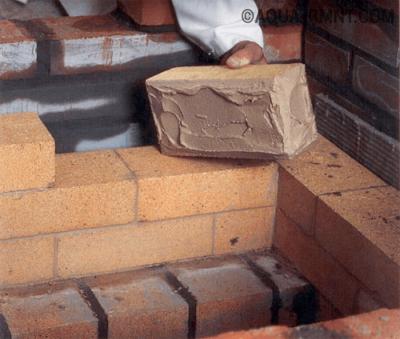 Кладка углового камина