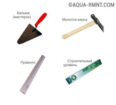 Инструменты для строительства печи