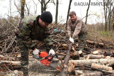 Распиливание дерева