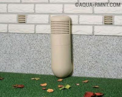 Входная труба вентиляции