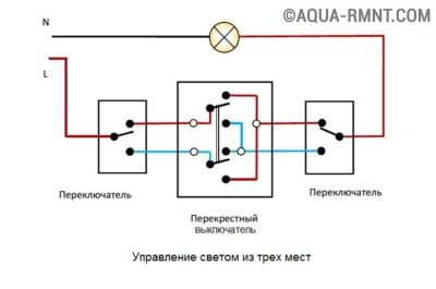 макел выключателей схема проходных подключения