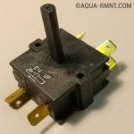 Поворотный выключатель со снятым корпусом