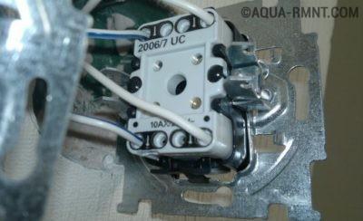 Установка внутреннего перекрестного выключателя