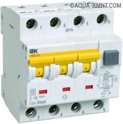 Автоматический выключатель дифференциального тока