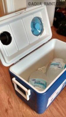 Охладитель из переносного холодильника
