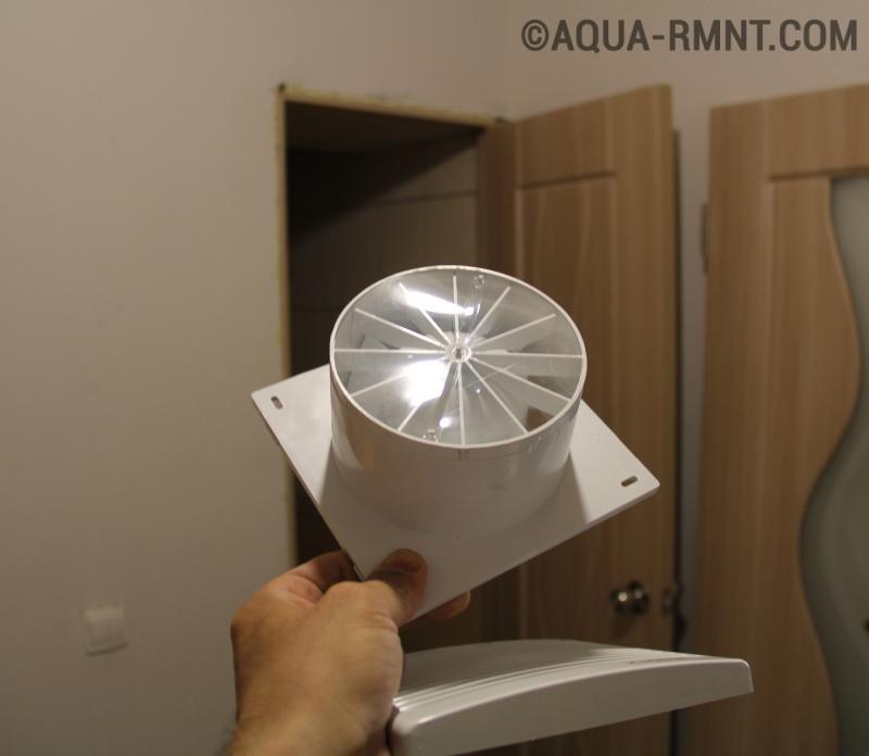 Установка вентилятора для вытяжки в ванной комнате своими руками