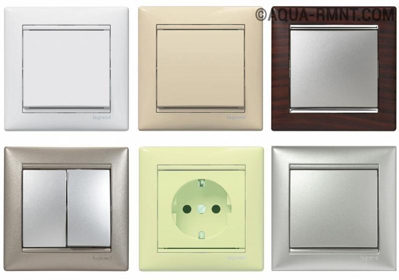 Обзор существующих видов розеток и выключателей