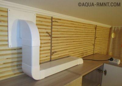 Пример расположения воздуховода