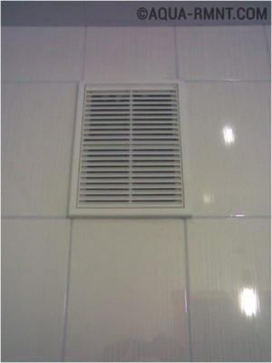Типовое вентиляционное отверстие с решеткой