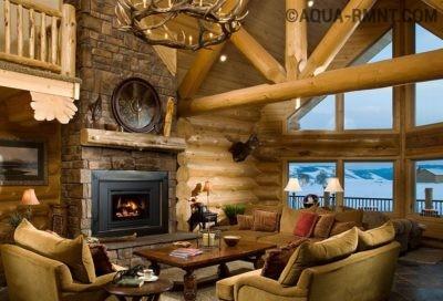 Второй свет в гостиной деревянного дома