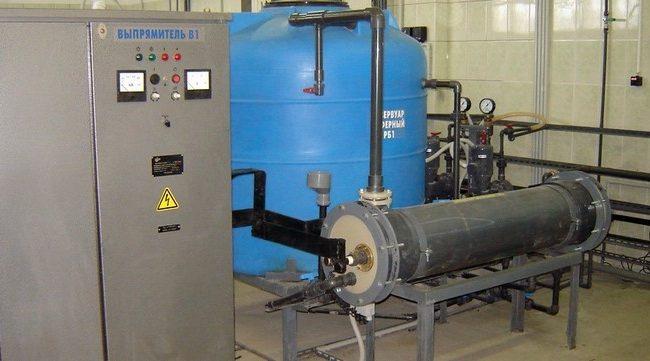 Система электрохимической очистки воды