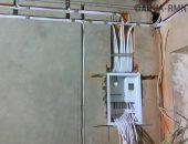 Электропроводка в гараже в процессе монтажа