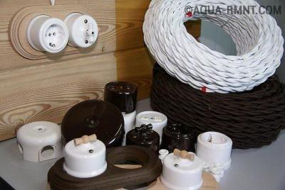 Комплект проводки с розетками и выключателями для дома