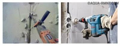 Штробление стен под электропроводки