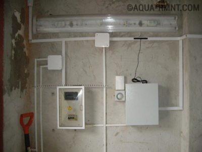 Внешняя электропроводка в гараже